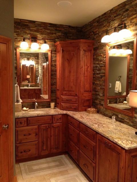 rustic elegant master bath rustic bathroom