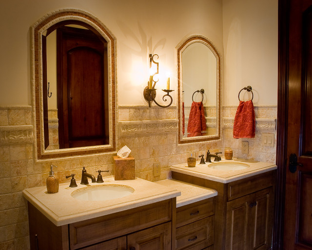 Rustic Guest Bathroom traditional-bathroom