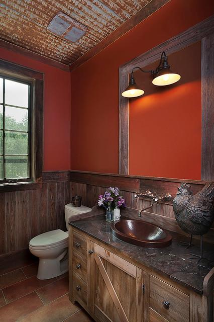 Rustic half bath for Rustic half bath ideas