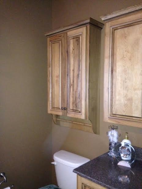 Rustic Hickory Johnny Wall Cabinet Farmhouse Bathroom