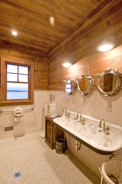 Superb Mountain Style Bathroom Photo In New York