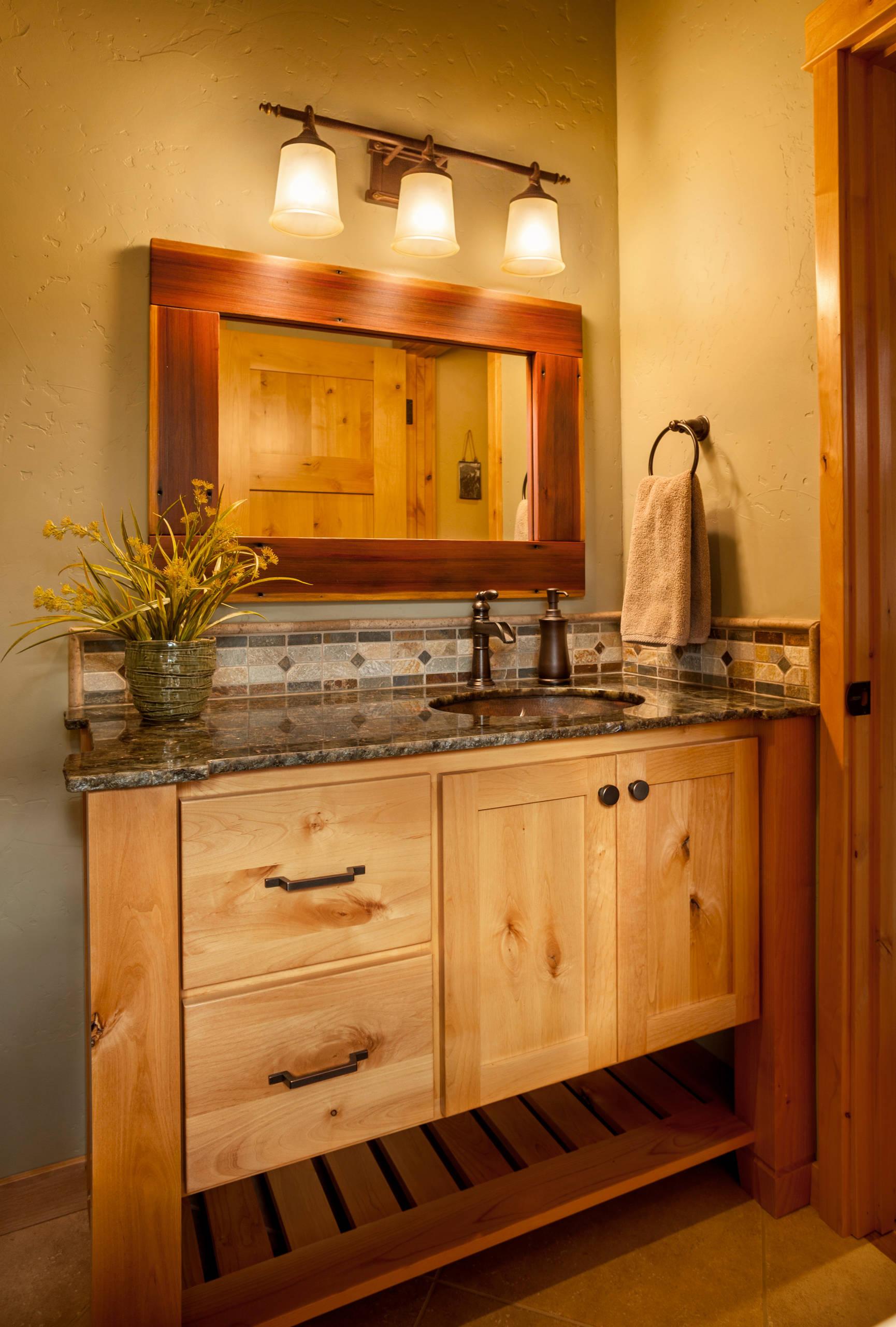 Rustic Interior Bath Design by Lori Brock