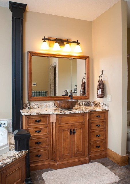 Rustic Log Home rustic-bathroom