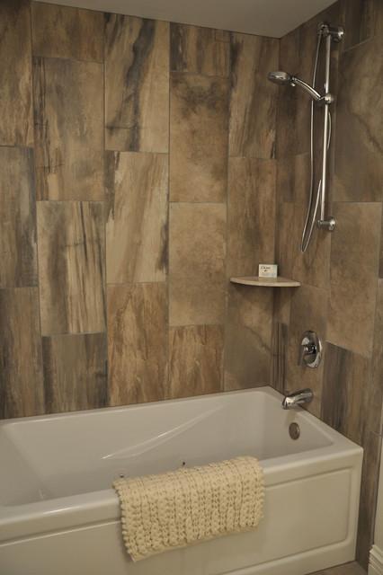 Rustic Meets Contemporary Rustic Bathroom Milwaukee By Schmidt Custom