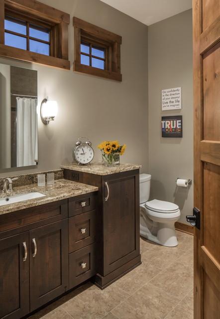 Rustic Modern Lake House Transitional Bathroom Omaha