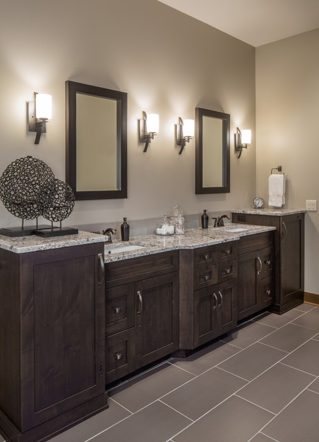 Rustic Modern Lake House Transitional Bathroom Omaha By Core Concepts Cabinets Amp Design