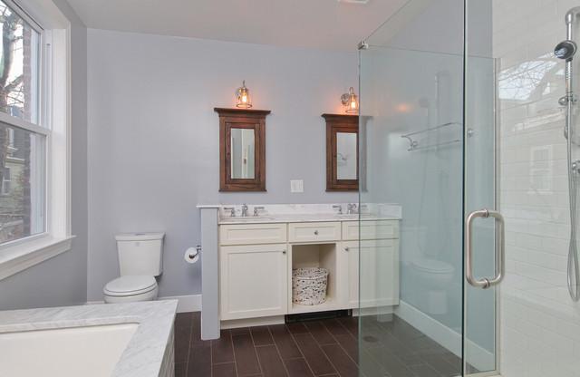 Rustic Modern Master Bathroom With Glass Shower Traditional Bathroom