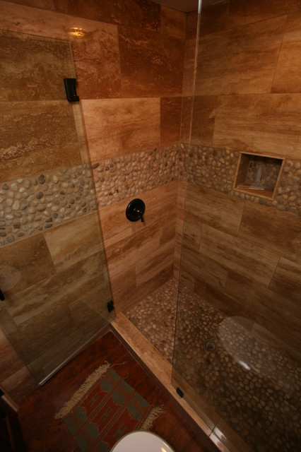 Rustic Natural Stone Bathroom In Huntington Beach Ca