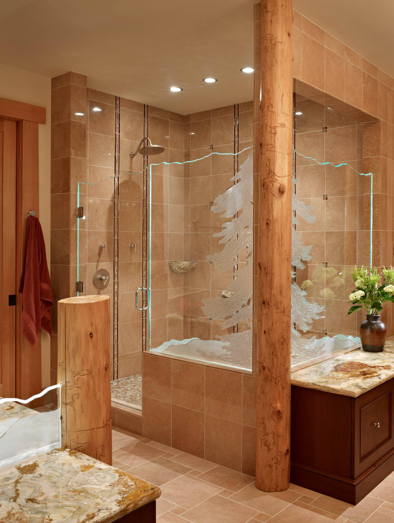 75 Beautiful Rustic Ceramic Tile Bathroom Pictures Ideas