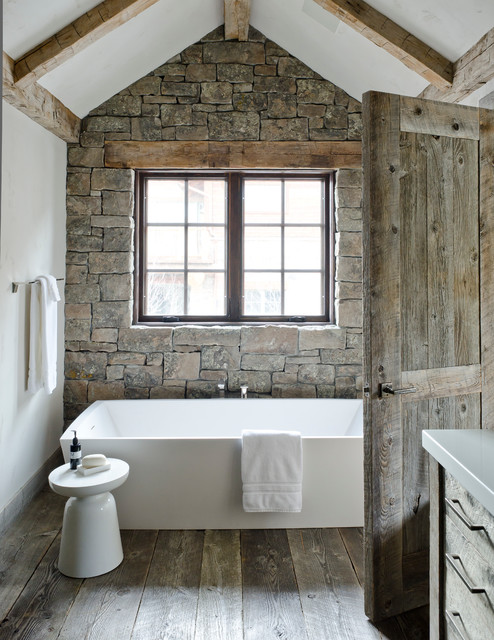 White Rustic Bathroom rustic redux - rustic - bathroom - other -on site management, inc.