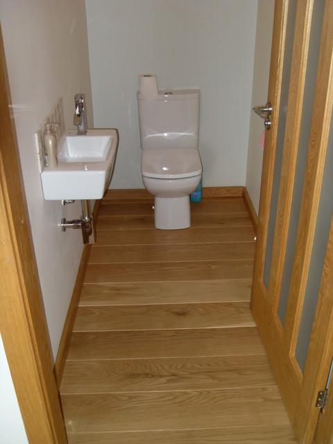 Rustic Solid Oak Flooring contemporary-bathroom
