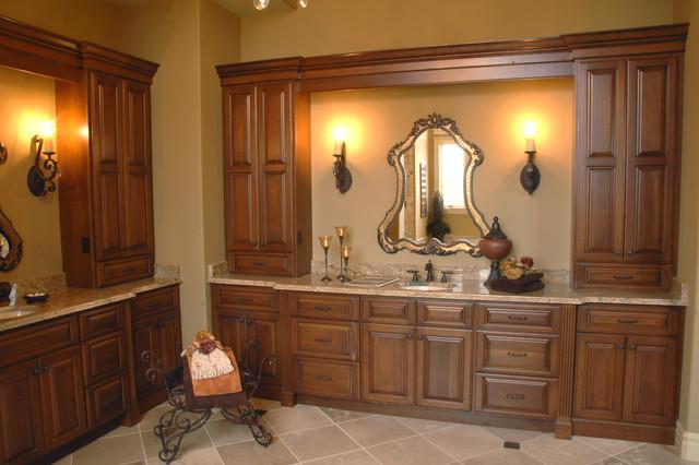 Rustic + Traditional traditional-bathroom