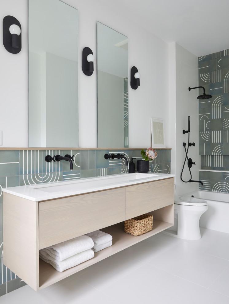 rye new construction - Contemporary - Bathroom - New York ...