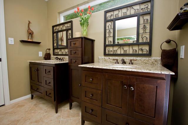 Safari bathroom remodel traditional bathroom los for Safari bathroom ideas