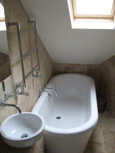 Safe and Secure with Travertine, brings out a timeless bathroom look