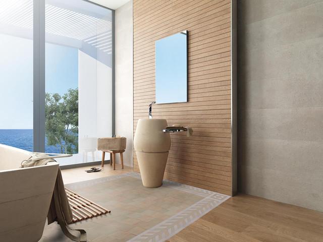 Salle de bain avec carreaux de zellige/ Contemporary Zellige ...