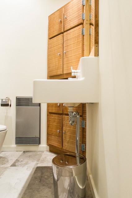Salle de bain de bois exotique contemporary bathroom montreal by real - Salle de bain en bois exotique ...