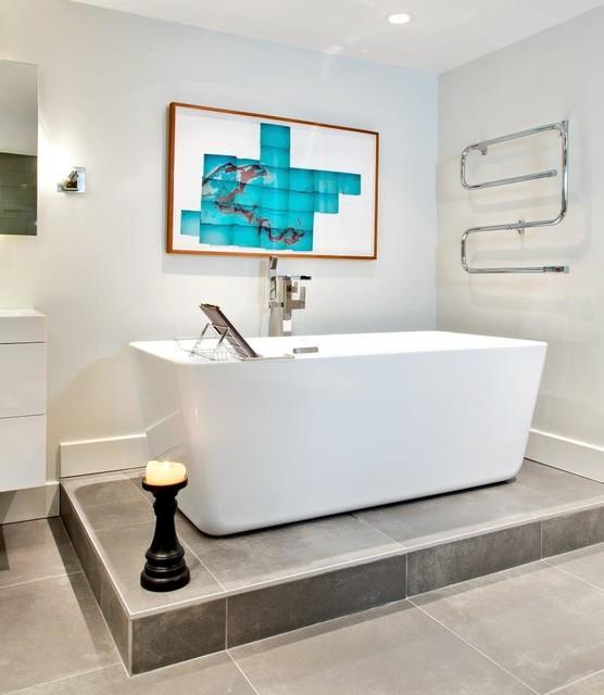 Salle de bain du havre contemporary bathroom for Renovation salle de bain montreal