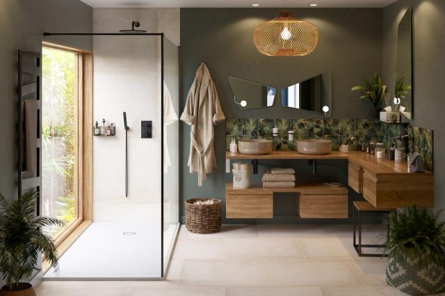 Salle de bain tendance Exotique - Exotique - Salle de Bain ...