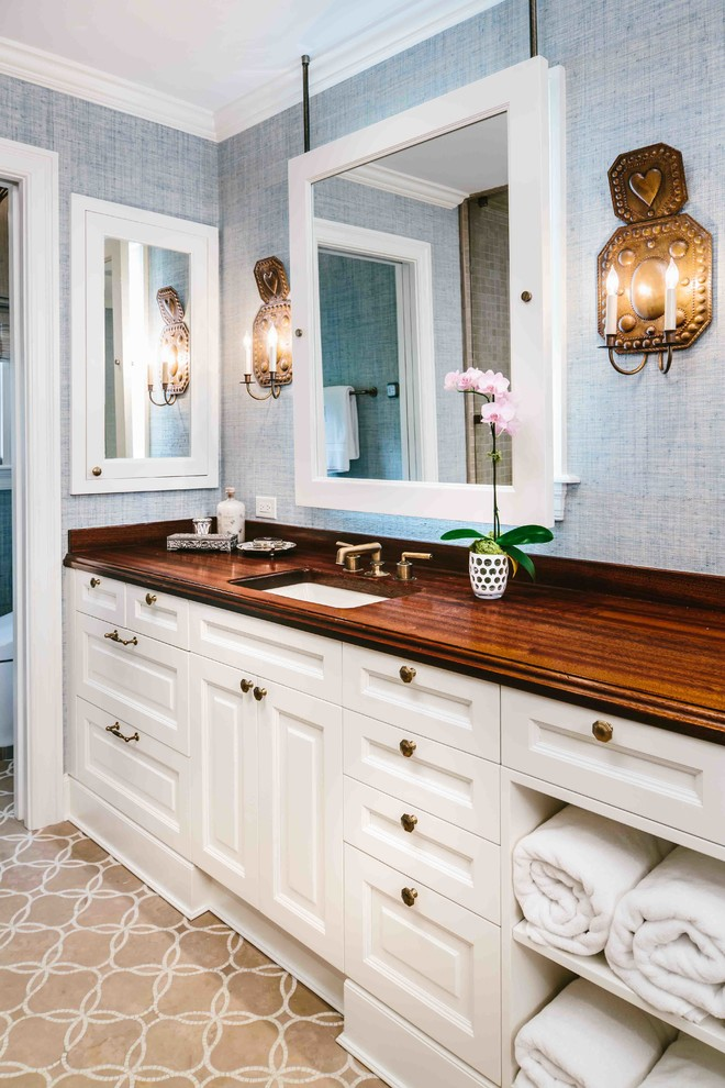San Antonio Tx Traditional Antiqued Sapele Mahogany Bathroom Vanity Counter Traditional Bathroom Austin By Grothouse Wood Countertops Houzz