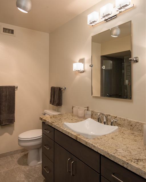 San Diego Sky Rise Master Bath And Guest Bath Contemporary Bathroom San