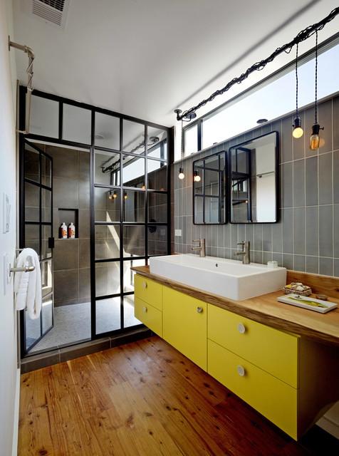 San Francisco Floating House - Industrial - Bathroom - San Francisco on design idea small bathroom sink, convert bathroom tub shower, design in bath tub shower combo, options for small bathroom shower, small bathroom remodel shower, spa-like bathroom shower, subway tile bathroom shower, design home small house plans, design interior bathroom.#eclectic, small master bathroom shower, design small space living, design powder room bathrooms, small bathroom ideas tub shower, small bath layout with shower, design for small living room with fireplace, small bathtub with shower,