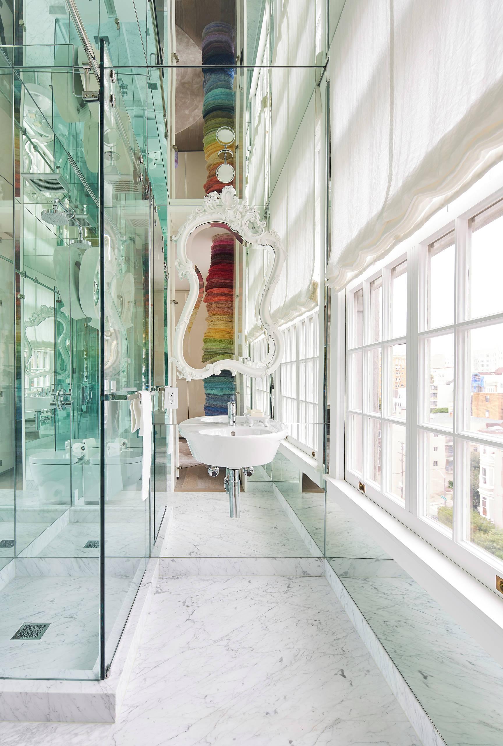San Francisco Loft-Mirrored bath off of Dressing Area