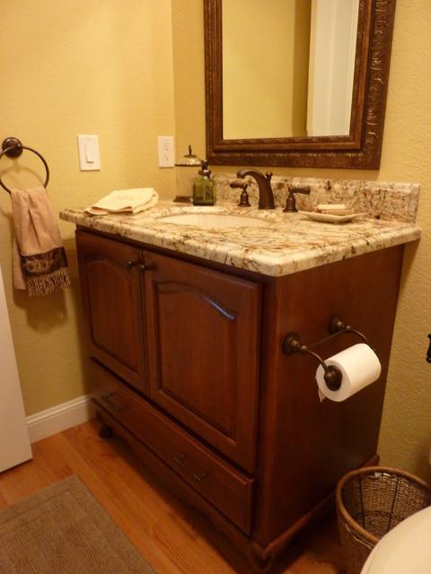 San Jose Dynasty Maple Kitchen by Signature Kitchen & Bath Design traditional-bathroom