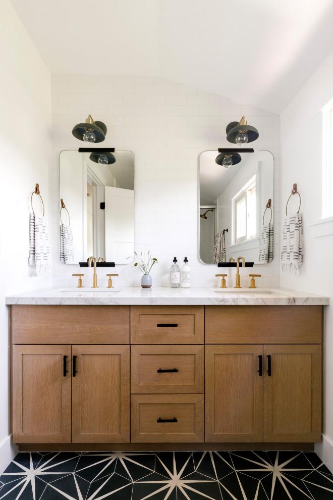 San Jose Modern Traditional - Transitional - Bathroom ...