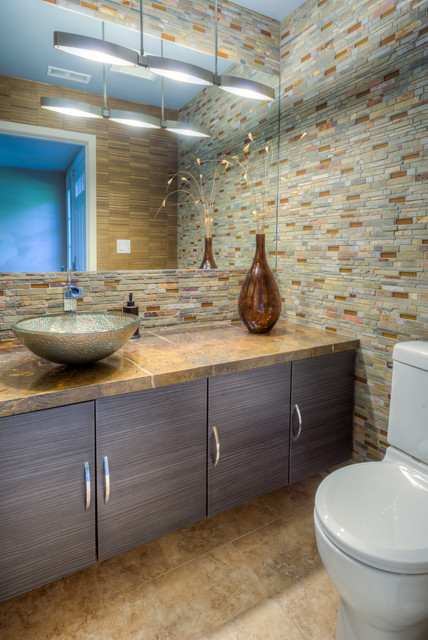 San Miguel Project Designed By CJ Lowenthal - Feat. Dura Supreme Cabinetry contemporary-bathroom