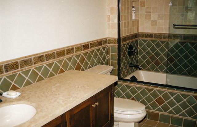 San Rafael Avenue Bathroom and Fireplace Tile Remodel traditional-bathroom