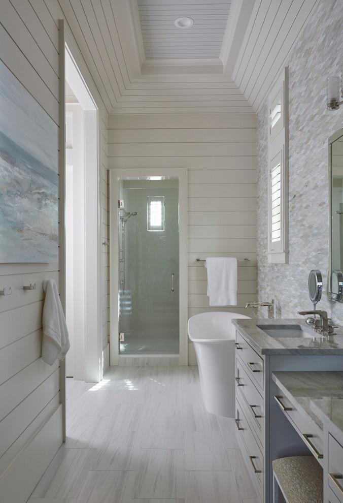 Example of a beach style bathroom design in Miami