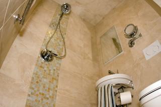 Sandstone Powder Room Contemporary Bathroom St Louis
