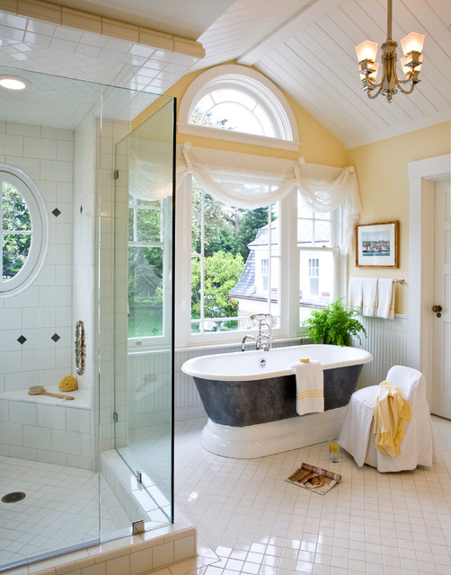 Santa barbara dutch colonial beach style bathroom for Colonial bathroom ideas