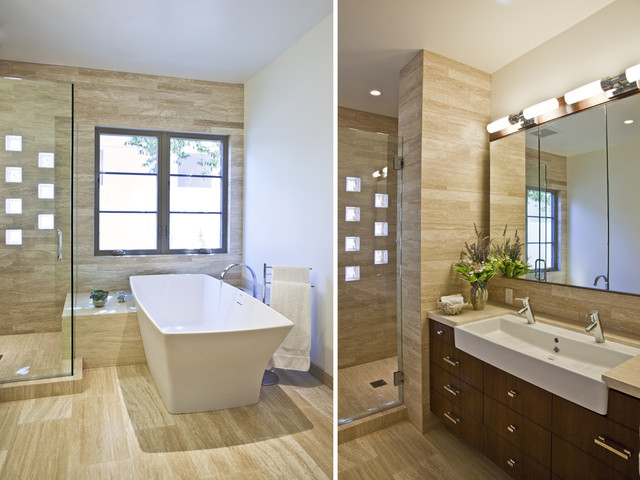 Santa Barbara Modern Spanish Contemporary Bathroom Los Angeles By Patrick Szurpicki