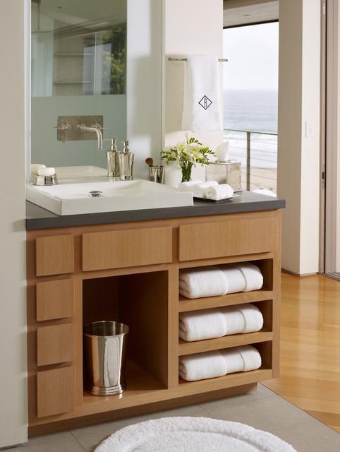 santa barbara modern vanity beach style bathroom