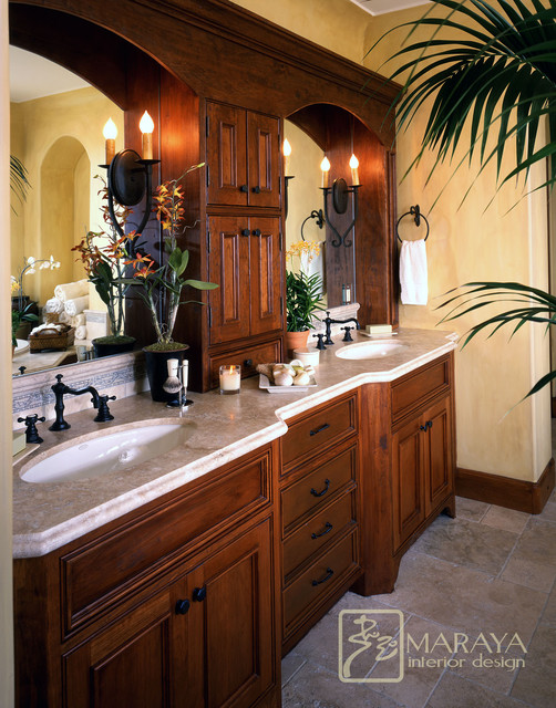 Santa Barbara Style Bath mediterranean-bathroom