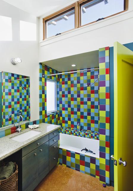 Santa Cruz Straw Bale House Eclectic Bathroom San Francisco By Arkin Tilt Architects