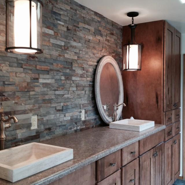 Santa fe master bath southwestern bathroom for Bath remodel albuquerque