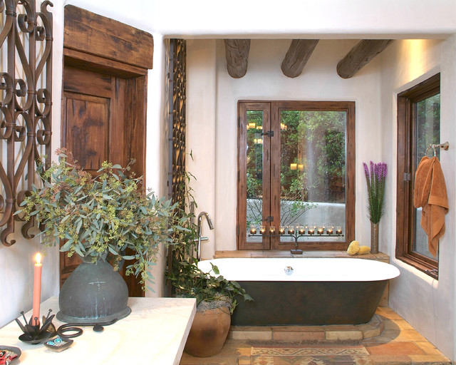 Santa Fe Master Bathroom Traditional Bathroom San
