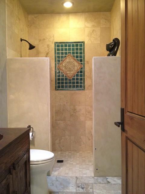 Santa fe modern adobe contemporary bathroom for Santa fe style bathroom ideas