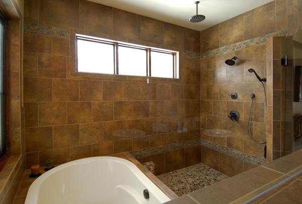 Santa Fe Mountain Contemporary traditional-bathroom