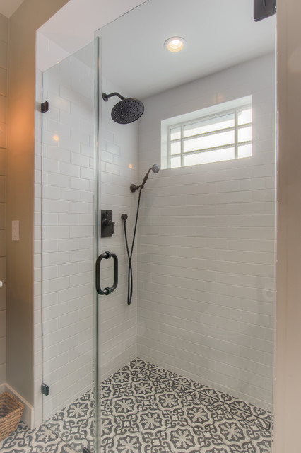 Santa Monica Garage conversion transitional-bathroom