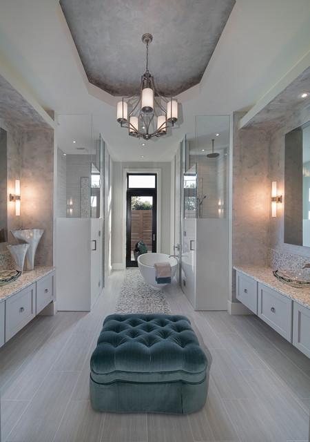 Sater Design Collection    s Moderno House Plan   Transitional    Sater Design Collection    s Moderno House Plan transitional bathroom