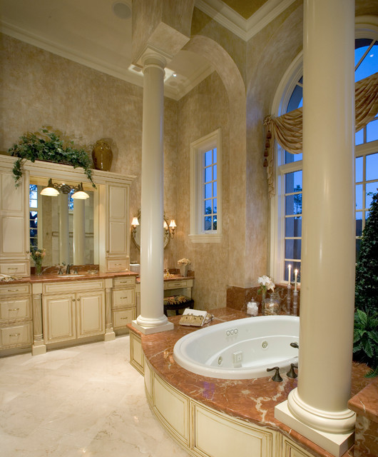 "Bathroom Mediterranean Style: Sater Group's ""Cordillera"" Custom Home Plan"