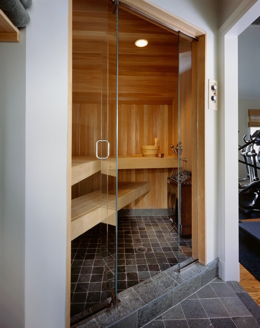 Sauna rye ny contemporary bathroom new york by for Master bathroom with sauna