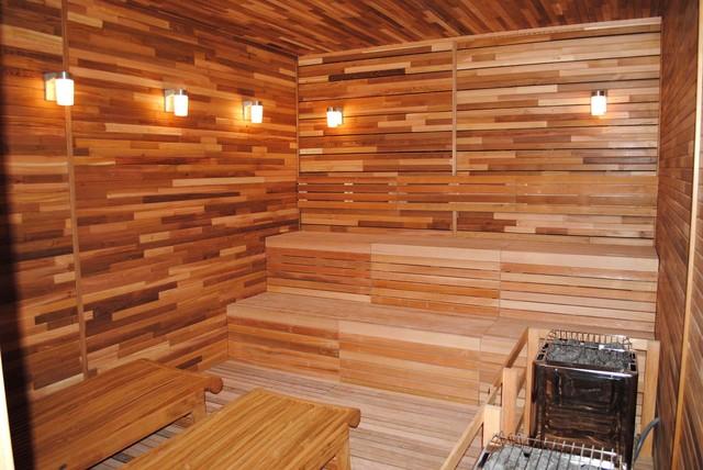 Sauna Contemporary Bathroom Chicago By Tr Knapp