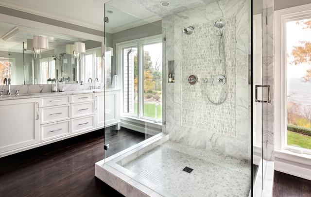 Sazama design build remodel llc transitional bathroom for Bath remodel milwaukee