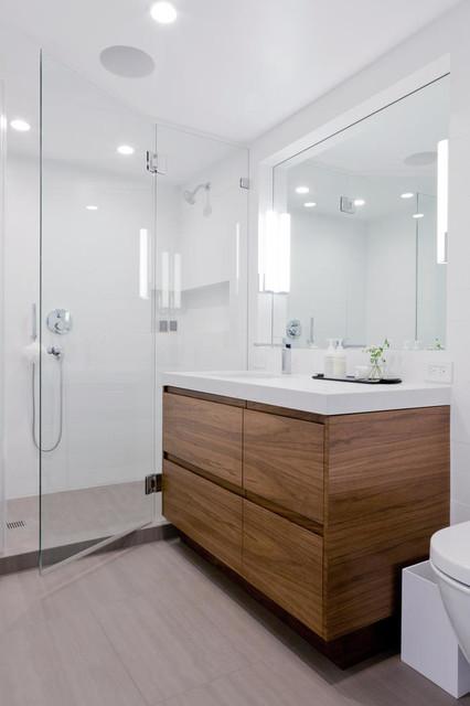 Scandinavian Inspired Condo In The West Hollywood Hills Scandinavian  Bathroom