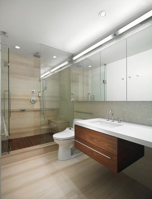 Scandinavian Modern Condominium - Scandinavian - Bathroom - toronto - by Jill Greaves Design